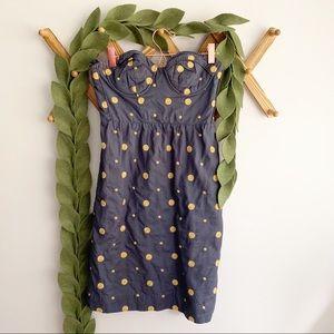Floreat Polka Dot Strapless Dress